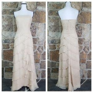Jovani M MEDIUM L LARGE Silk Tiered Gown Dress